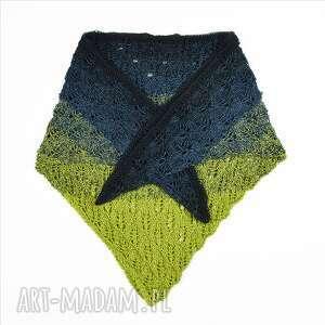 molito chusta morska bawełniana damska, ażurowa, trójkątna