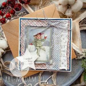 ręcznie wykonane prezent świąteczny magiczna kartka na święta bożego narodzenia
