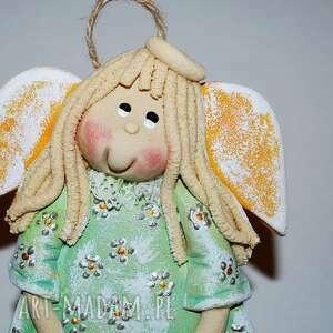 Magosza, krysia na spacerze - anioł z masy solnej, aniołek, świąta, urodziny