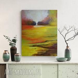 SŁONECZNA ŁĄKA-obraz akrylowy formatu 30/40cm, obraz, akryl,