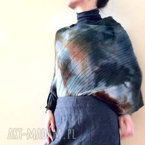 Prezent Eleganckie wełniane ponczo, sweter, wełna, wełniany, prezent