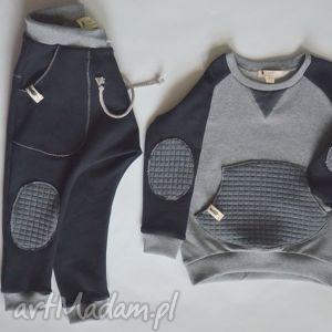 święta prezent, ubranka bluza szaro-czarna, dziecko, bluza, dres, bawełna, raglan