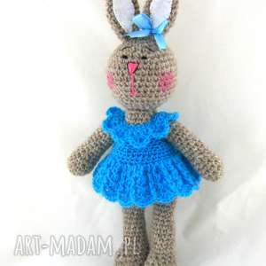króliczka błękitna, króliczka, zabawka, maskotka, prezent, ozdoba, przytulanka