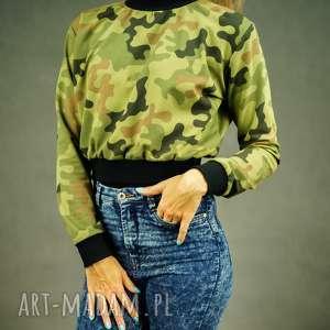 Krótka bluza dresowa moro sweet camouflage bluzy lil yo odziez