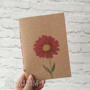 hand made notesy brulion - notatnik zeszyt szkicownik gerbera