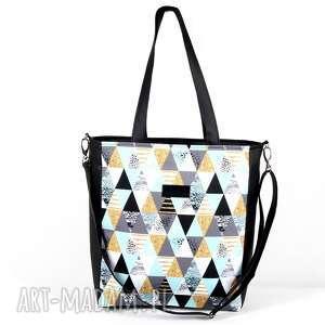 torba wodoodporna pojemna trójkąty - torebka, pojemna, wodoodporna, nieprzemakalna