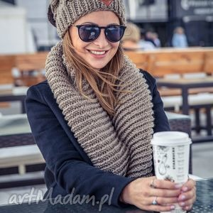 kominy komin ice coffee, jesień, zima, włóczka, handmade, komin