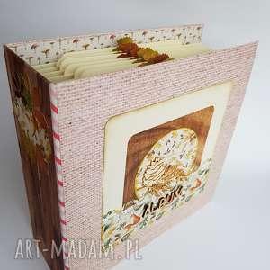 Album jesienny scrapbooking albumy iride handmade album