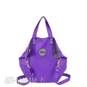 na ramię worek small all lila, torba, eko skóra, zakupy, podróże, damska