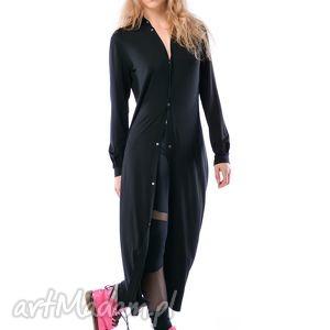 sukienki linda hypnotic black maxi, koszula, długa, jersey, wyjątkowy prezent
