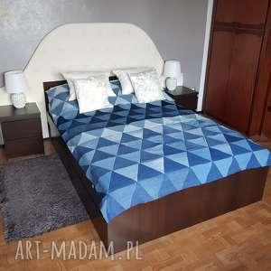 #6 narzuta na łóżko denim patchwork pled