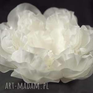 Kwiat ślubny ozdoby do włosów selenit jedwab, kwiat, ozdoba
