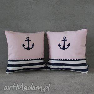 komplet poduszek marine - madzia, marine, marynistyczny, marynarski, poduszki