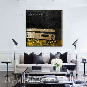 dekoracje duży obraz do nowoczesnych wnętrz, nowoczesny obraz, czarna