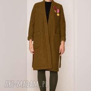 hand-made płaszcze wełniany sweter/płaszcz z psem
