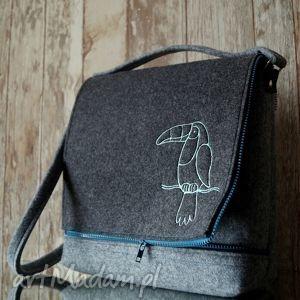 ręcznie zrobione torebki filcowa torba z haftem