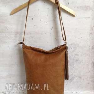 hand-made na ramię skórzana torba