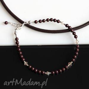 bransoletki maroony ii, perły, kryształy, swarovski, srebro, delikatna, bransoletka