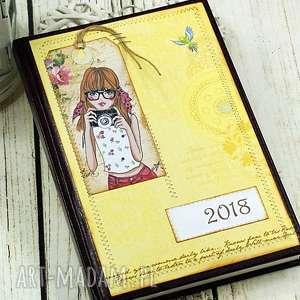 kalendarz książkowy 2018- słońcem malowany, kalendarz, dla, fotografa, terminarz