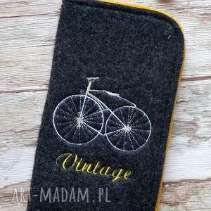 happyart filcowe etui na telefon - vintage bike, etui, retro, rower, vintage, zygzak