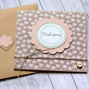 ręczne wykonanie kartki dziękujemy - podziękowanie fiolet