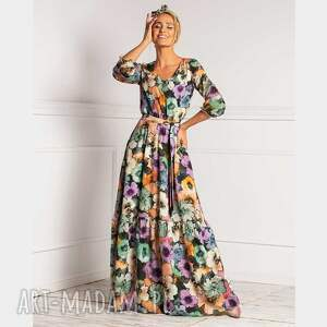 sukienki sukienka liv maxi vallery, maxi, rozkloszowana, elegancka sukienka