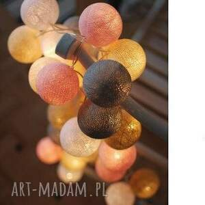 cotton ball lights pastels by pretty pleasure - salon, sypialnia, lampki, cotton, ball
