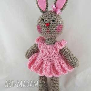 maskotki króliczka różowa, króliczka, zabawka, maskotka, prezent, dekoracja