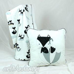 Poduszka Lis Deszczowy 46x46, poduszka, dekoracyjna, pościel, dziecko, lis, minky