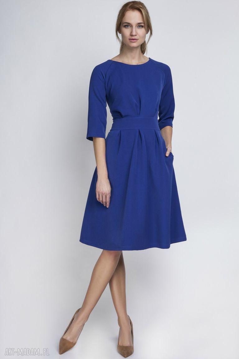 ręcznie wykonane sukienki sukienka, suk122 indygo
