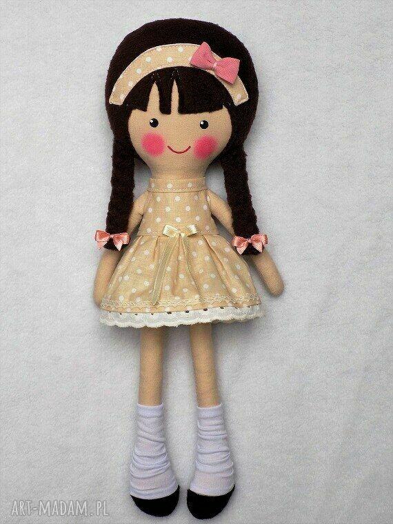 lalki prezent malowana lala katarzyna z wełnianym