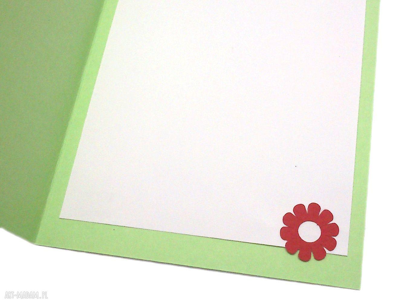 prezent na święta zielone kartka wielkanocna