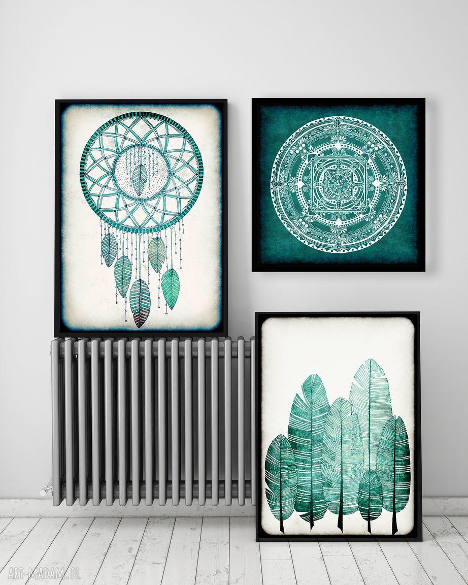 handmade grafika zestaw 3 prac