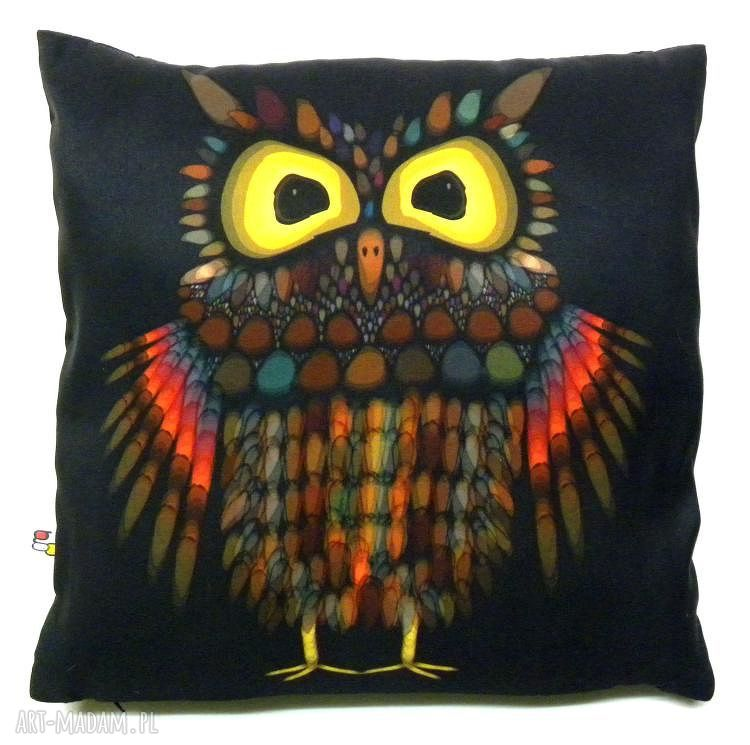 hand made poduszki poduszka dekoracyjna z sową