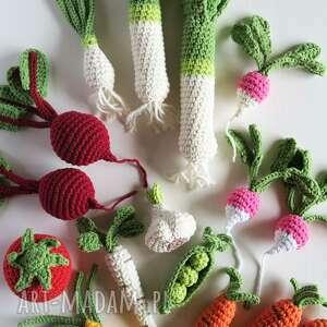 warzywa dziergane na szydełku - zabawki dla dzieci, akcesoria fotograficzne