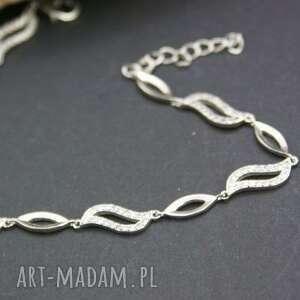 bransoletka srebrna z cyrkoniami, bransoletka, srebrna, cyrkonie, błyszcząca