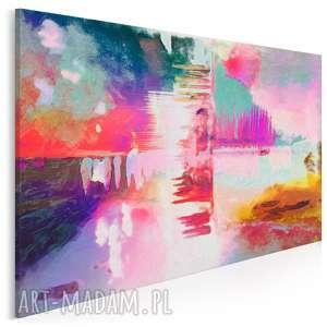 obraz na płótnie - abstrakcja kolory 120x80 cm 16701, pastele, kolory