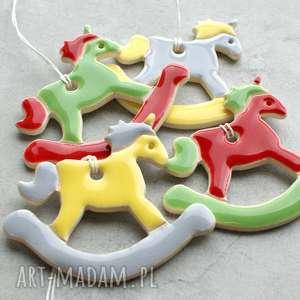 dekoracje koniki na biegunach - zestaw ozdób, konik biegunach, zawieszka, choinka