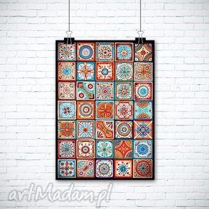ręcznie robione grafika mozaika 50x70 cm