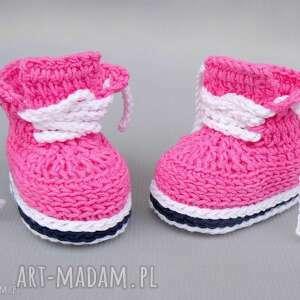 trampki stanford, buciki, trampki, bawełniane, prezent, niemowlęce, szydełkowane