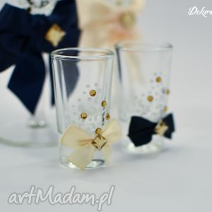 ręcznie malowane kieliszki do wódki 2 sztuki, kieliszki, wódka, ślubne, weselne
