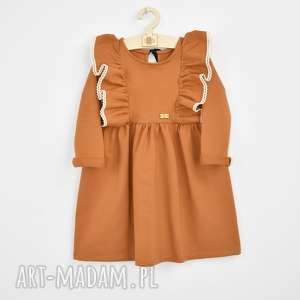 handmade sukienka z falbanami i koronka