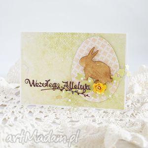 hand-made scrapbooking kartki kartka z zajączkiem