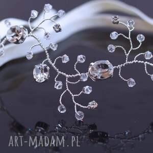 ślub kryształowa podwiązka, swarovski, ślub, ozdoba, preciosa