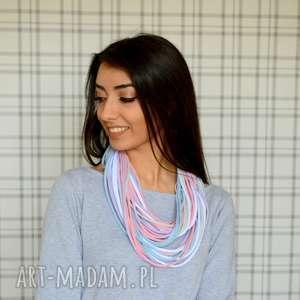 handmade naszyjniki naszyjnik bawełniany color light 10