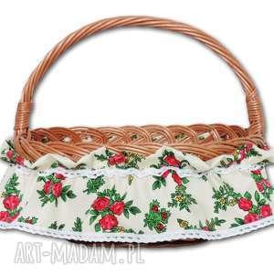 dekoracje falbanka ozdoba na koszyk wielkanocny folk, koszyk, wielkanocny, folkowy