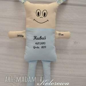 handmade zabawki miś metryczka dziecka