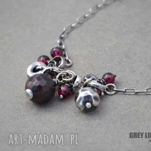 Naszyjnik z granatami, srebro, granaty