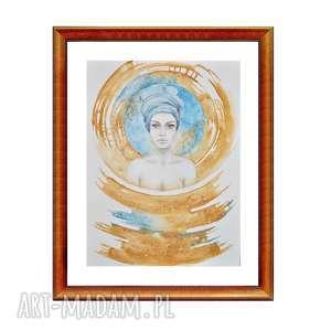 Ashanti, akwarela/ rysunek, akwarela, obraz, postać, kobieta, rysunek