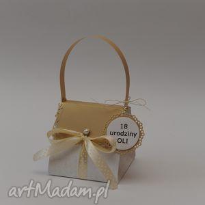 kartka torebka chrzciny komunia urodziny - kartka